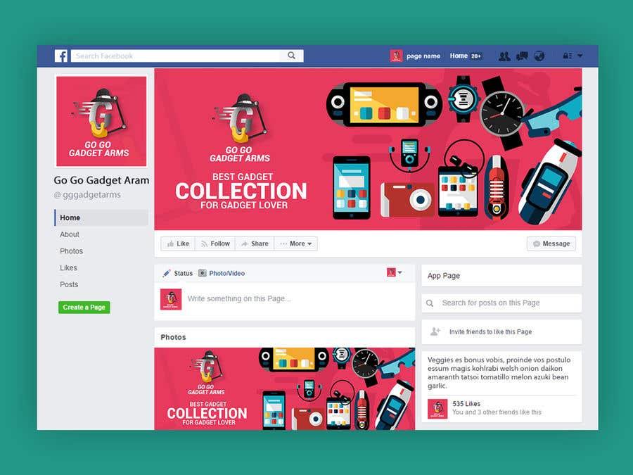 Kilpailutyö #58 kilpailussa Facebook Page Design Work