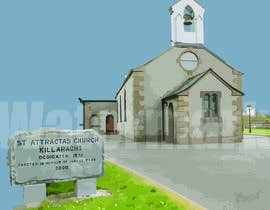 #11 for Draw an outline of this church in illustrator. by Kartik007