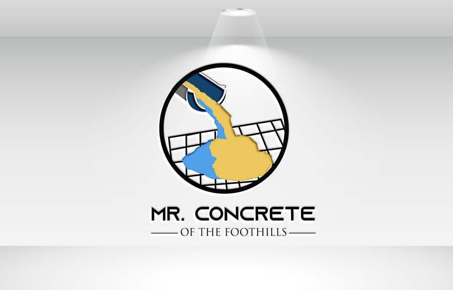 Konkurrenceindlæg #36 for Mr Concrete of the Foothills Logo