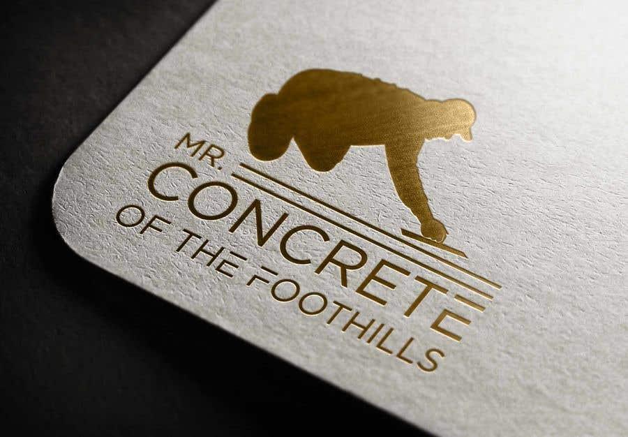 Konkurrenceindlæg #2 for Mr Concrete of the Foothills Logo