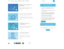 Nro 13 kilpailuun webpage mockup käyttäjältä mnsiddik84