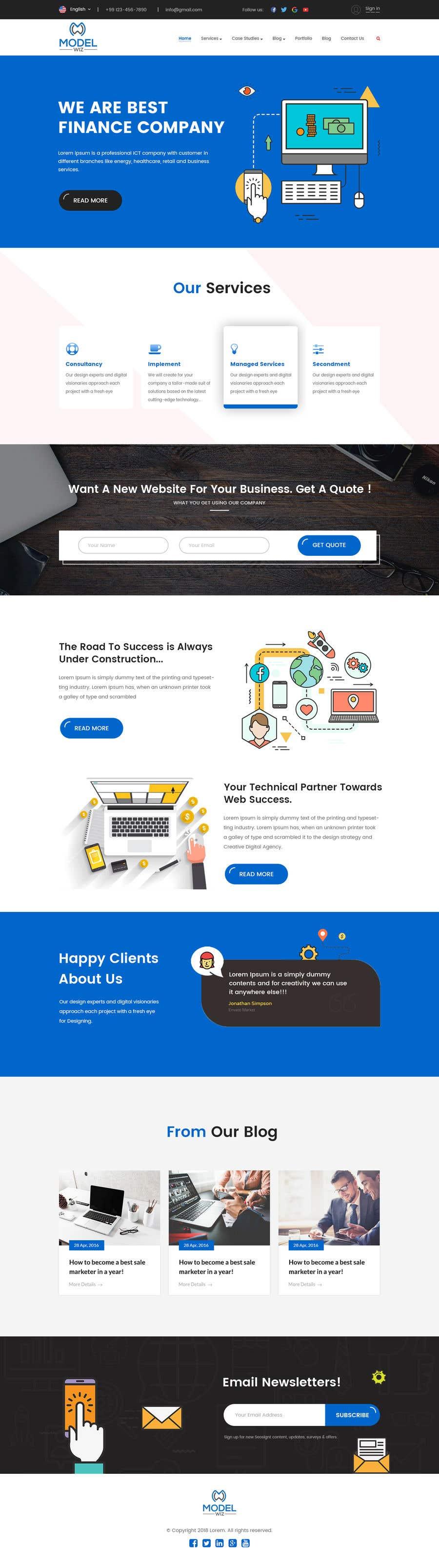 Kilpailutyö #6 kilpailussa Design Homepage