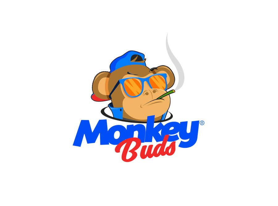 Kilpailutyö #11 kilpailussa I need a logo designed for an upper market vape and marijuana store named Monkey Budz the logo must contain 2 monkey heads one smoking a blunt the other vaping. Something classy that will appear to both young and old generations