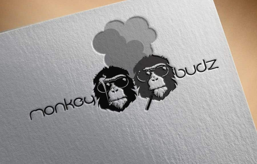 Kilpailutyö #2 kilpailussa I need a logo designed for an upper market vape and marijuana store named Monkey Budz the logo must contain 2 monkey heads one smoking a blunt the other vaping. Something classy that will appear to both young and old generations