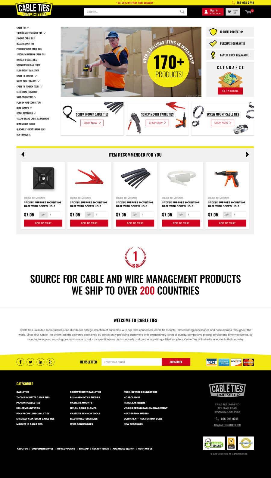Kilpailutyö #16 kilpailussa Redesign an Ecommerce Website Homepage