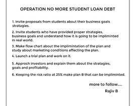 #11 for OPERATION NO MORE STUDENT LOAN DEBT 20/20 /20 AN IDEA WHOSE TIME HAS COME- . by Toy05