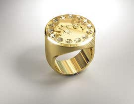 "Nro 10 kilpailuun Design a mens ring with my logo ""MONEY, PLUG, GUN"" käyttäjältä behzadfreelancer"