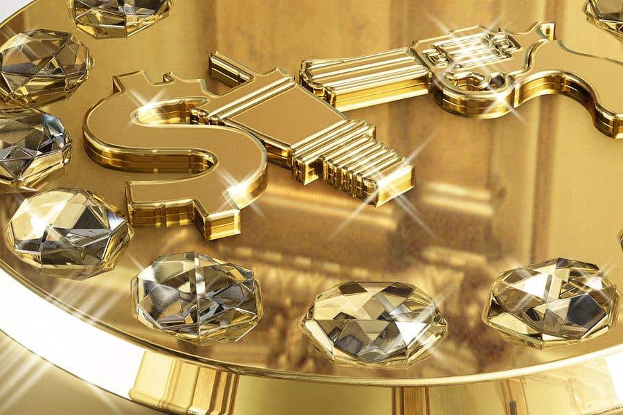 "Kilpailutyö #11 kilpailussa Design a mens ring with my logo ""MONEY, PLUG, GUN"""