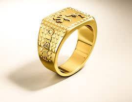 "Nro 21 kilpailuun Design a mens ring with my logo ""MONEY, PLUG, GUN"" käyttäjältä behzadfreelancer"