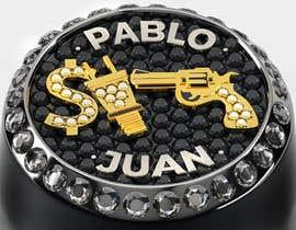 """Nro 26 kilpailuun Design a mens ring with my logo """"MONEY, PLUG, GUN"""" käyttäjältä behzadkhojasteh"""