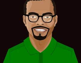 sajalshil tarafından Make an animated vector illustration of a black male with green polo shirt. için no 24