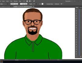nº 27 pour Make an animated vector illustration of a black male with green polo shirt. par mdsabbir5018