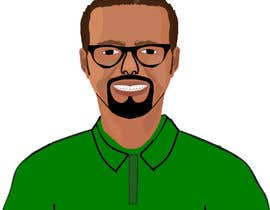 mdsabbir5018 tarafından Make an animated vector illustration of a black male with green polo shirt. için no 28