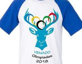 "nº 21 pour A logo for a t-shirt with the outline of a deer face and that says ""Venado Olimpiadas 2018"" par letindorko2"