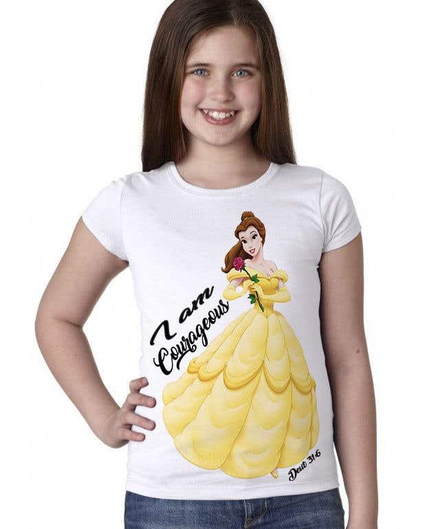 "Konkurrenceindlæg #14 for ""I am Courageous. Deut 31:6"" - GIRLS Tshirt Design"