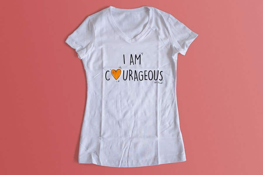 "Konkurrenceindlæg #7 for ""I am Courageous. Deut 31:6"" - GIRLS Tshirt Design"