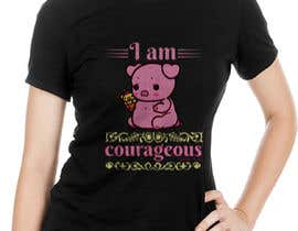 "#55 for ""I am Courageous. Deut 31:6"" - GIRLS Tshirt Design af gmsuruj001"