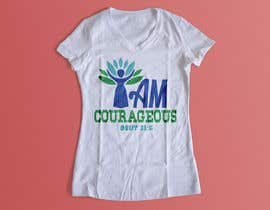 "#58 for ""I am Courageous. Deut 31:6"" - GIRLS Tshirt Design af Msrohani420"