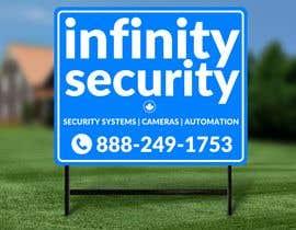 #88 untuk Lawn Sign for Security oleh ConceptGRAPHIC