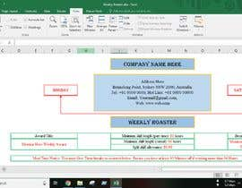 #15 for Excel Automatic Rostering Spreadhseet af Saheen0