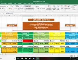 #22 for Excel Automatic Rostering Spreadhseet af Saheen0