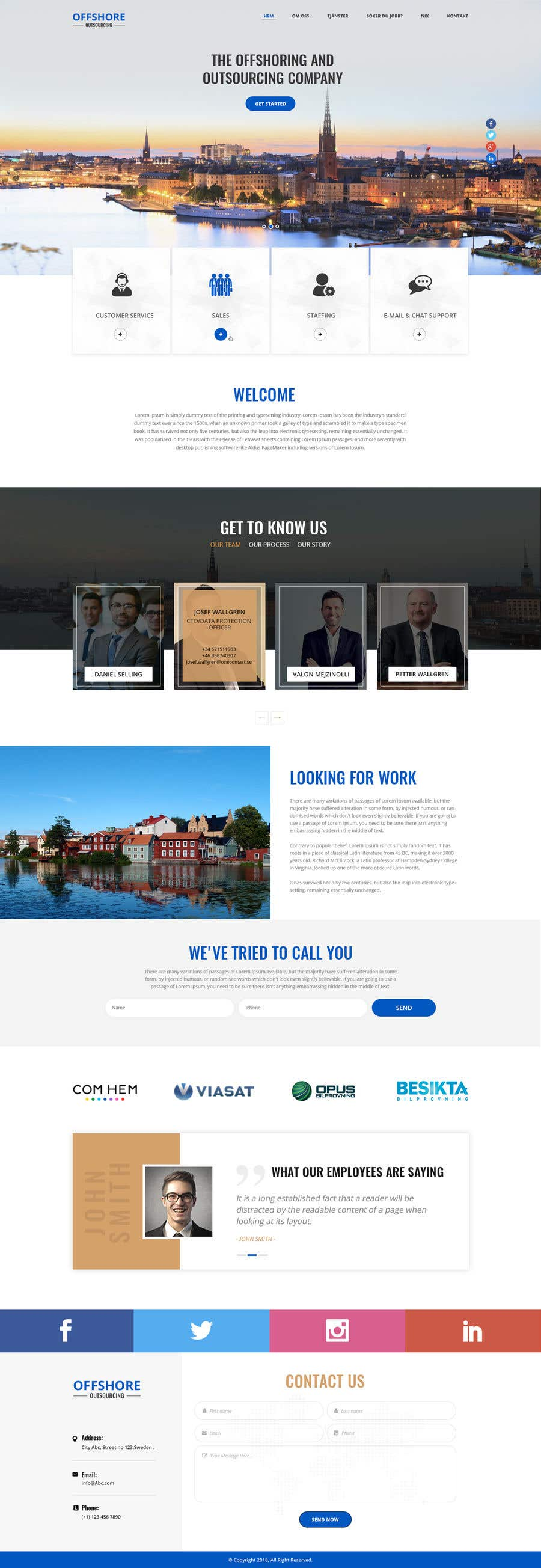 Entry #21 by shazy9design for Build a homepage for my telemarketing