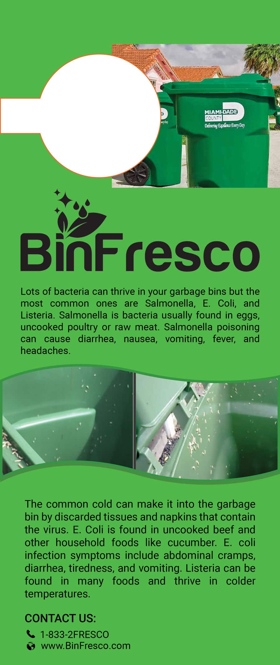 Entry #4 by bhripon990 for BinFresco Door hanger | Freelancer