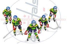 #15 for Draw hockey player illustration by letindorko2