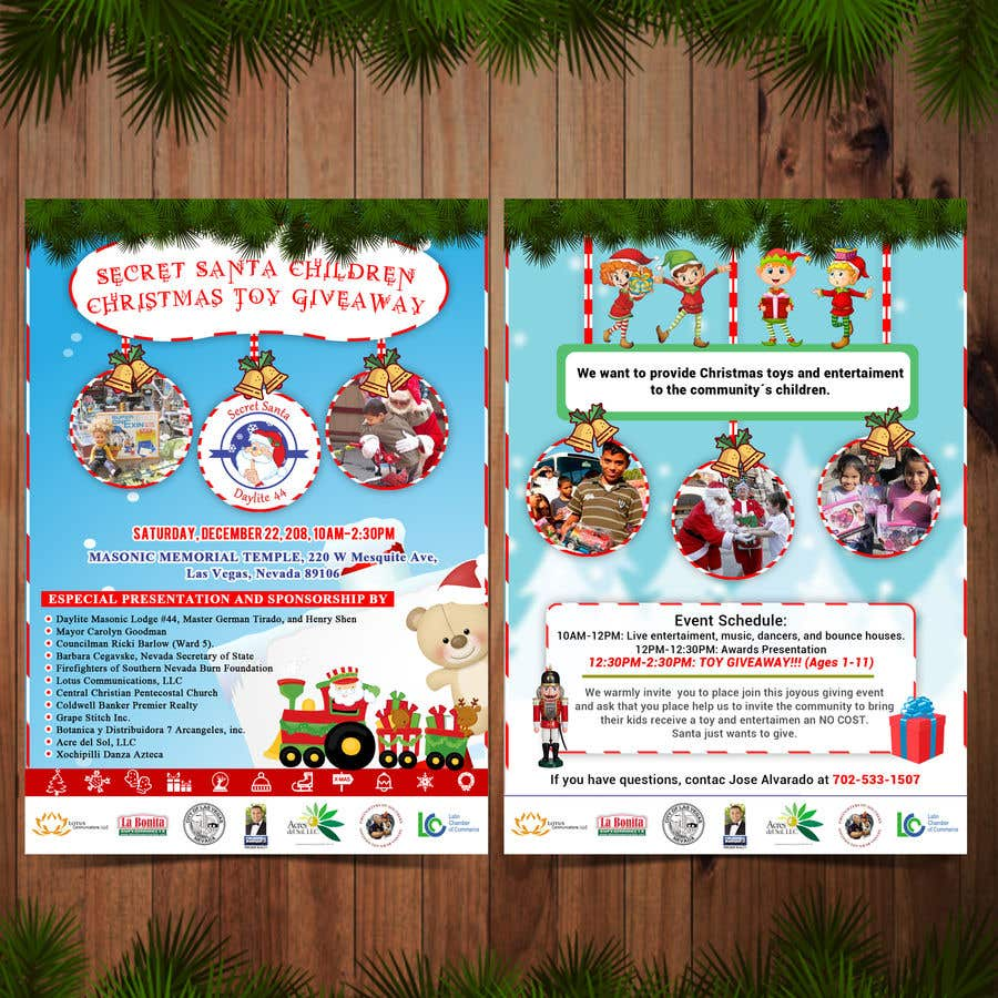 Christmas Toy Giveaway 2021 Entry 3 By Armandopantoja For Design Flyer For Christmas Toy Giveaway For Kids Freelancer