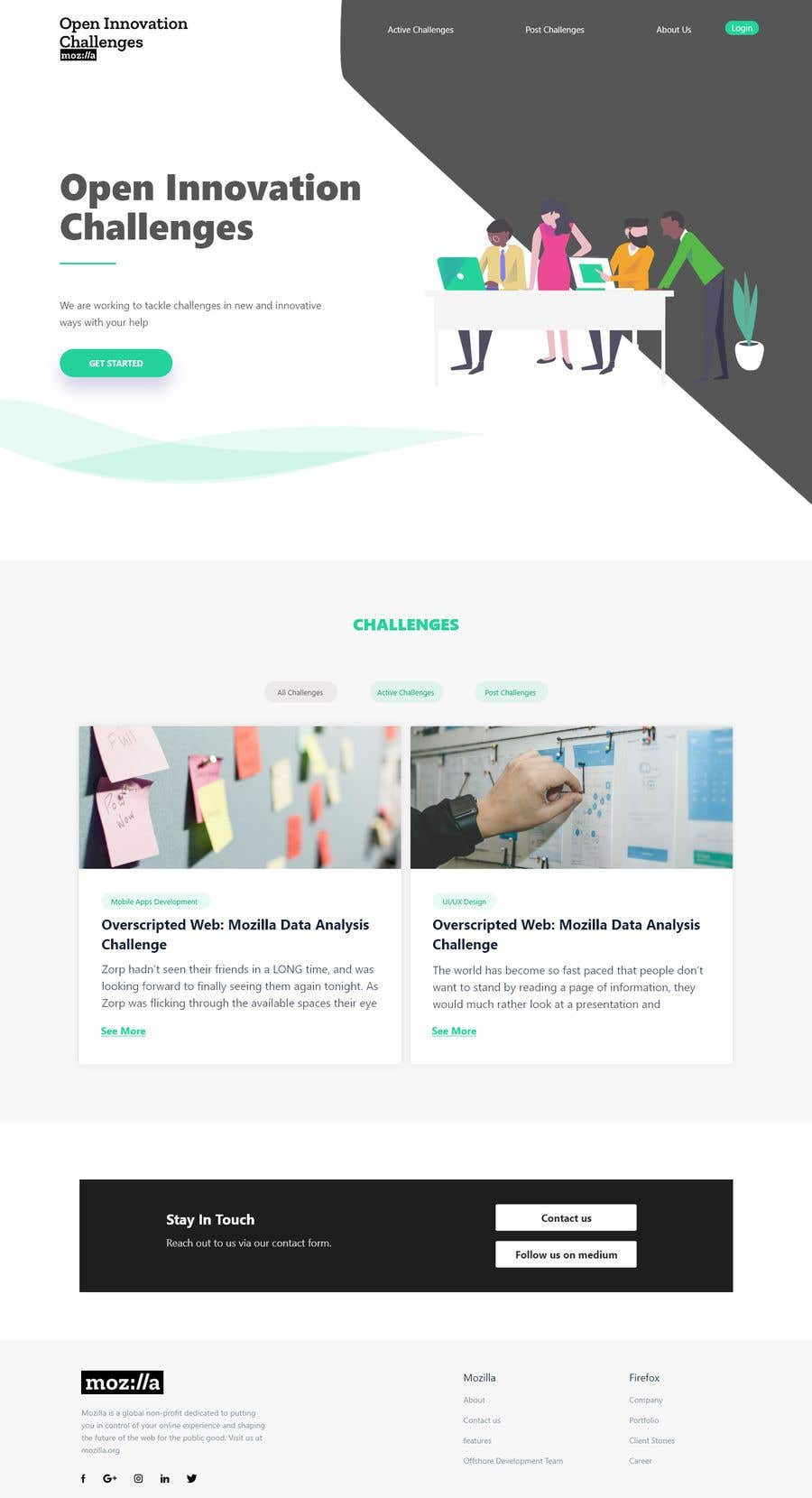 Entry #34 by TeamAlphaSH for Redesign the Mozilla Challenges