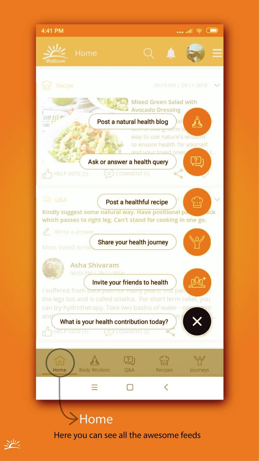 Penyertaan Peraduan #8 untuk Design the 'how to use' screens for Wellcure App