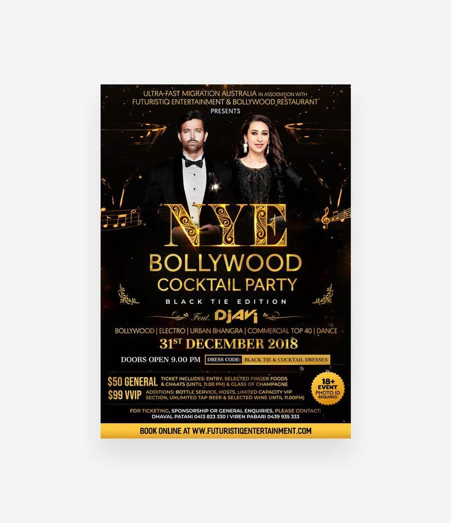 Kilpailutyö #55 kilpailussa NYE Bollywood Cocktail Party (Black Tie Edition)