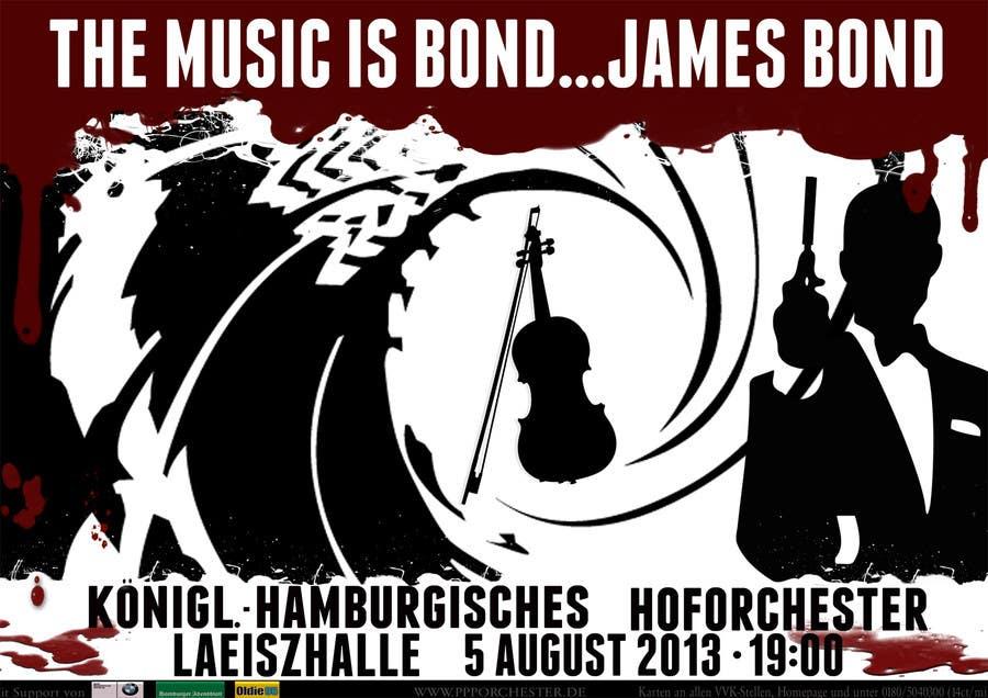 Konkurrenceindlæg #                                        171                                      for                                         James Bond Poster Design for Orchestra Concert