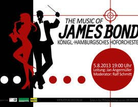 #109 for James Bond Poster Design for Orchestra Concert by frostyerica