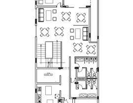 nº 21 pour To design interior interior furniture and equipments layout for a restaurant par maiiali52