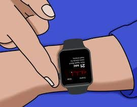 #2 for Create a diagram/Figure of apple watch and person testing ECG function by joaoricardorm