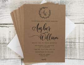 Nro 39 kilpailuun Design a rustic wedding invite template käyttäjältä deyali