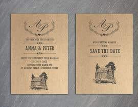 Nro 12 kilpailuun Design a rustic wedding invite template käyttäjältä gkhaus