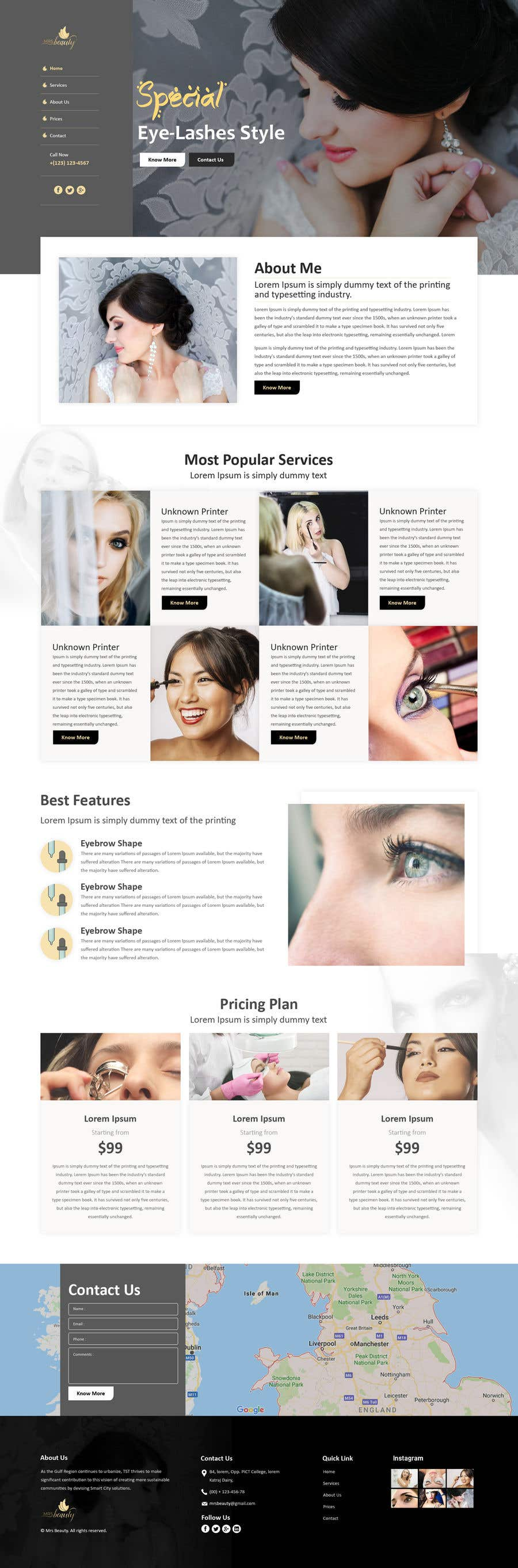 Contest Entry #23 for 150$ Guaranteed - Wordpress Website for an Eye-Lashes Company