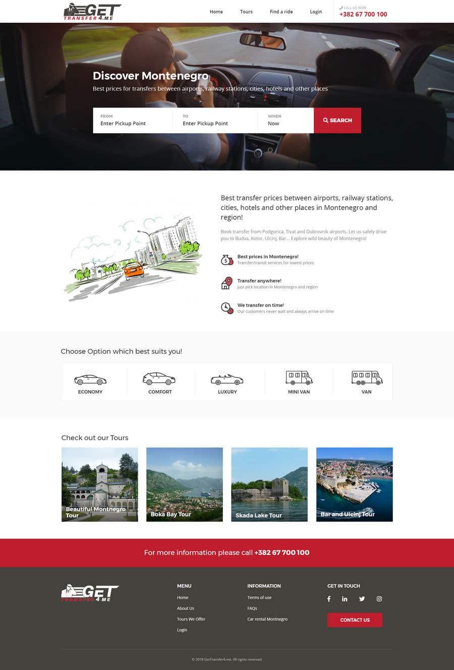 Kilpailutyö #35 kilpailussa Existing website - redesign