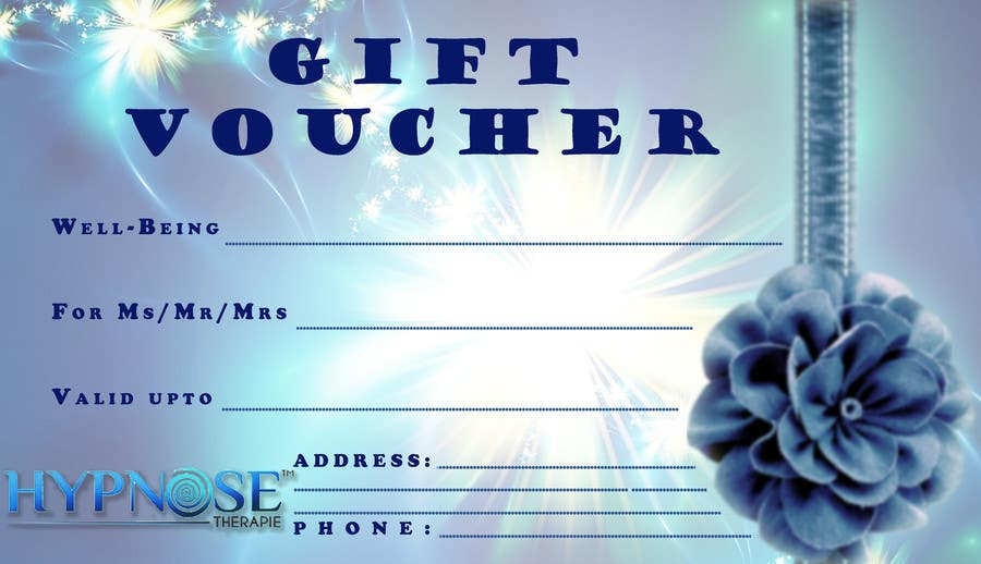 #25 for Design of GIFT VOUCHERS : for HYPNOSIS by SaranyaKrish