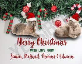 #50 untuk Digital Christmas card(s) with photos of my pet cats oleh yeasir119