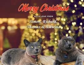 #41 untuk Digital Christmas card(s) with photos of my pet cats oleh aamirsohailoffic