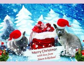#42 untuk Digital Christmas card(s) with photos of my pet cats oleh asadulislambit