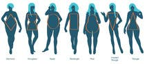 Illustration Design for female body shapes/ types için Graphic Design56 No.lu Yarışma Girdisi
