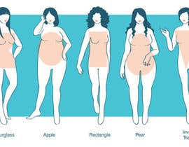 #53 untuk Illustration Design for female body shapes/ types oleh CrimsonPumpkin