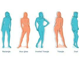#12 para Illustration Design for female body shapes/ types de zoombiemode