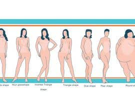 #77 para Illustration Design for female body shapes/ types por zoombiemode