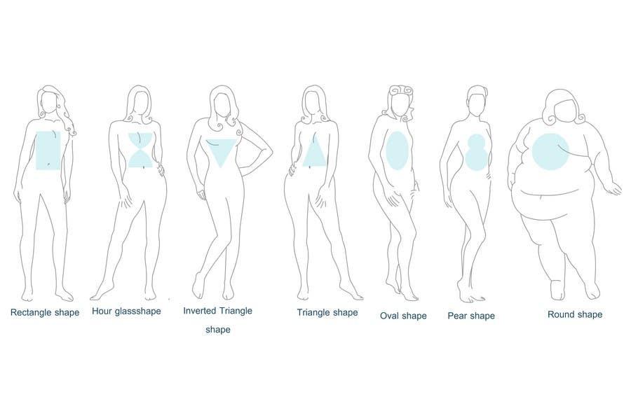 Penyertaan Peraduan #                                        19                                      untuk                                         Illustration Design for female body shapes/ types