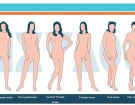 #84 para Illustration Design for female body shapes/ types de zoombiemode